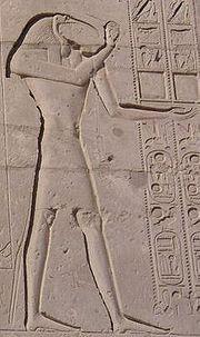 Thot sur les murs du Ramesséum