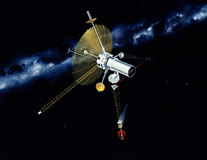 Astrometry - Concept art for the TAU spacecraft, a 1980s era study which would have used an interstellar precursor probe to expand the baseline for calculating stellar parallax in support of Astrometry
