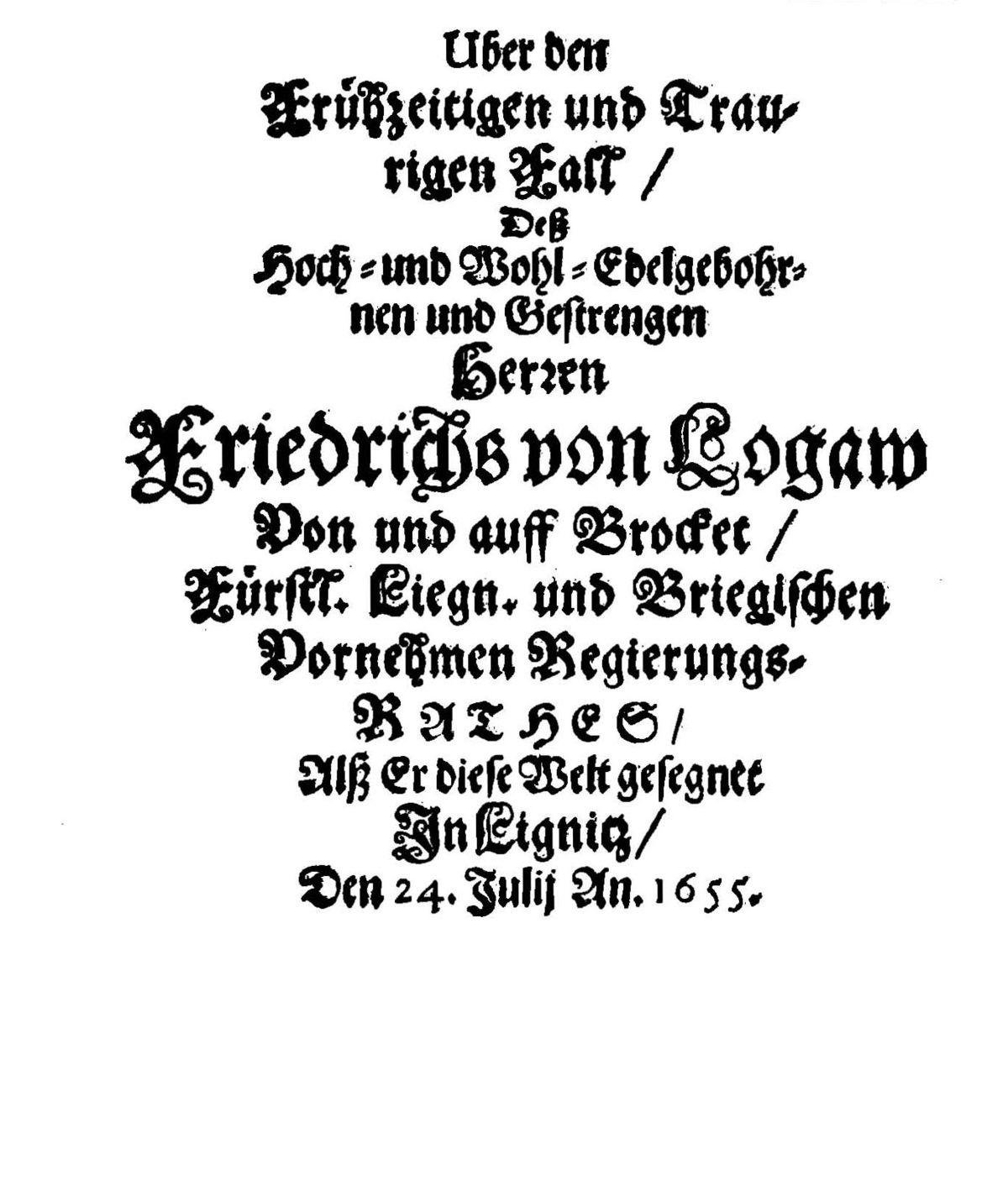 friedrich von logau – wikipedia