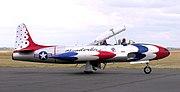 Thunderbirds Lockheed T-33 Shooting Star, Chino, California