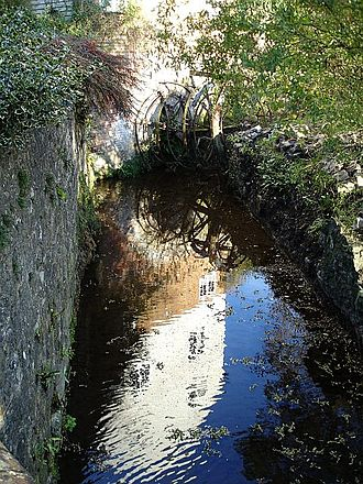 River Len - Thurnham Mill reflected in the water.