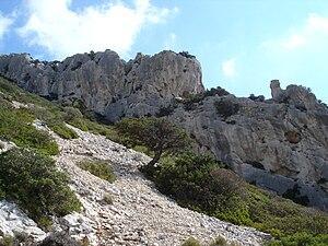 Tiscali (village) - View of Monte di Tiscali.