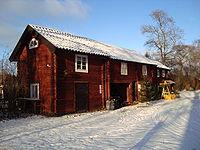 Del af Tolvmansgården i Karlbo i Dalarna, hvor Karlfeldt fødtes og voksede op.