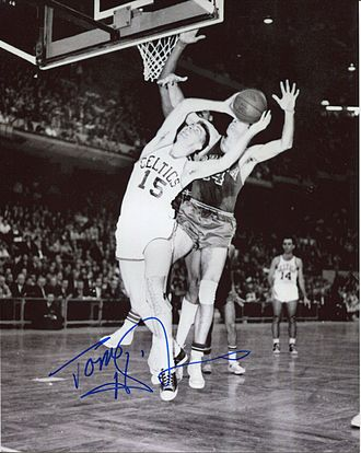 Tom Heinsohn - Heinsohn during a game against the Philadelphia Warriors, circa 1962