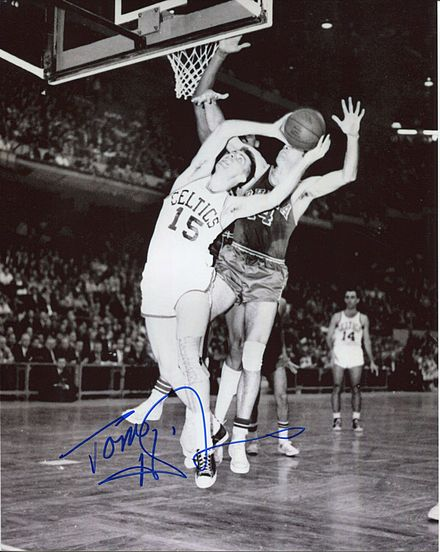 Tom Heinsohn coached the Celtics to the 1974 and 1976 NBA Championships. Tom heinsohn Celt.JPG