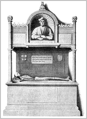 John Colet - Tomb of John Colet, D.D.,  Dean of St. Paul's.  After Hollar.