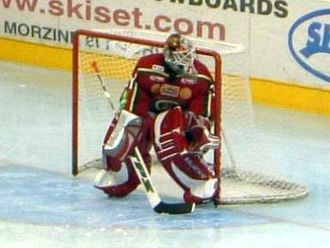 Tommy Salo - Salo with Frölunda HC in August 2005