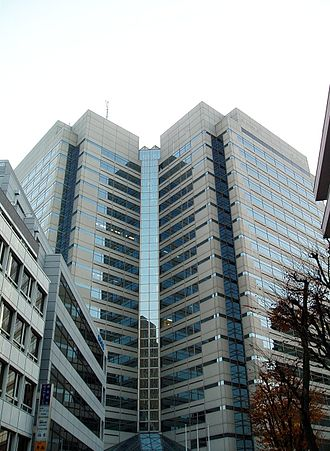 Ymobile Corporation - The Toranomon Twin Building in Minato-ku, Tokyo, headquarters of eAccess