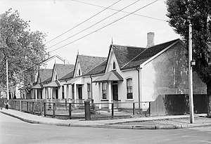 Alexandra Park, Toronto - Vanauley St. prior to public housing projects, 1939