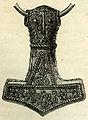 Torshammare av silver fr Bredsättra, Öland (Montelius 1877 sid 348 fig 405).jpg