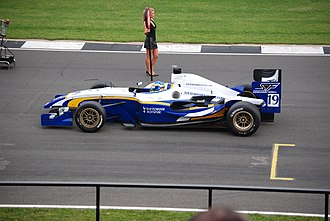 Tottenham Hotspur (Superleague Formula team) - Duncan Tappy on the grid during the 2008 Donington weekend.