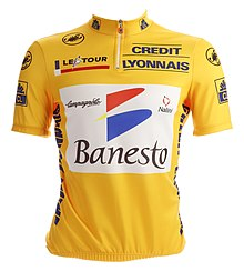 Tour de France 1995 yellow jersey (Miguel Indurain).jpg