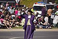 Town Crier, Judy Campbell, leading the SunRice Festival parade in Pine Ave.jpg
