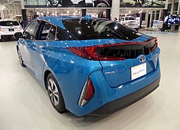 "Toyota PRIUS PHV S""Navi Package Safety Plus"" (DLA-ZVW52-AHXEB(B)) rear.jpg"