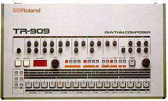 Rave - The TR-909 is a drum machine used in techno, house and many other genres