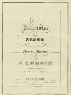 composition for piano by Frederic Chopin