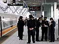 Train and police at Platform 1B, THSR Taichung Station 20070105b.jpg