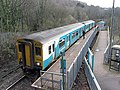 Train at Penrhiwceiber station (geograph 5293095).jpg
