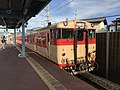 Train of Sasaguri Line at Chojabaru Station 2.jpg