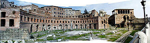 Trajan's Market - Landscape of the Trajan's Market in 2000