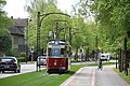 Tram on the newly rebuilt section of tracks in Naumburg.jpg