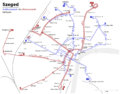 Tramway and trolleybus map of Szeged 2013 hu.png