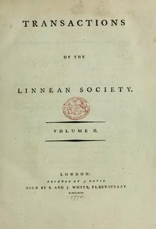 Transactions of the Linnean Society of London, Volume 2 (1794).djvu