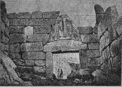 Trattato di archeologia gentile arte italica iii - La porta dei leoni a micene ...