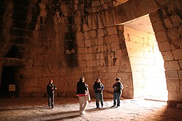Treasury of Atreus, 13th century BC royal tholos tomb near Mycenae-interior.jpg