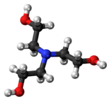 Ball-and-stick model of the triethanolamine molecule