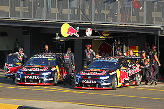 Triple Eight Race Engineering - The team's Holden VF Commodores at Sydney Motorsport Park in 2015.