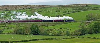 LMS Stanier Class 8F 8151 - 48151 leading 45699 Galatea and 46115 Scots Guardsman.