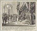 Troonsafstand van Filips V ten behoeve van zijn zoon Lodewijk I De Koning van Spanjen Philippus de V doet afstant van het regeeren der Spaanse Monarchie en geeft dezelve in het 23 Iaar van zyn regeering over aan zyn Oud, RP-P-1907-2122.jpg