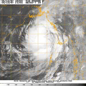 Cyclone Akash - Image of Tropical Cyclone 01B (Akash) right after formation.