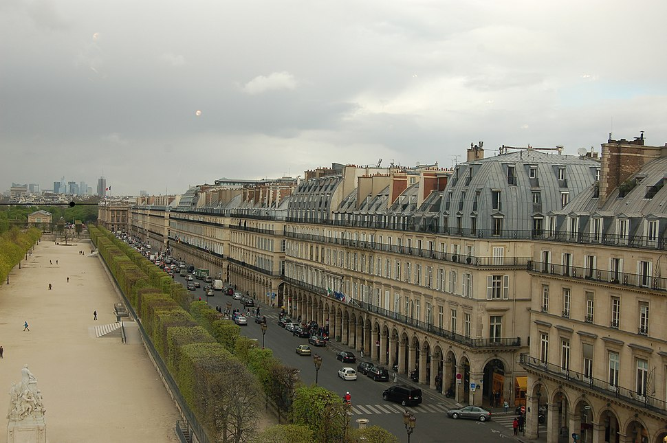 Tuileries Rivoli Perspective