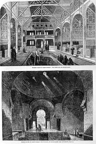 David Urquhart - Turkish Baths in Jermyn Street, 1862
