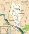 Tuscarora creek potomac map.png