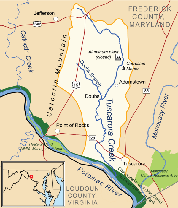 Landforms Of Frederick County Maryland
