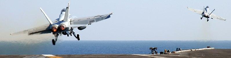Twin F/A-18E launch
