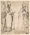 Two studies for Saint Ulrich of Augsburg MET DP811957.jpg
