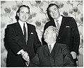 Two unidentified men and Mayor John F. Collins in Holyoke (10949863554).jpg