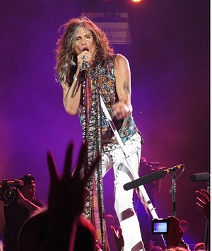 Steven Tyler - Tyler performing with Aerosmith in July 2012.