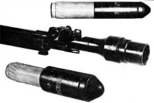 Type 2 rifle grenade launcher and grenades.jpg