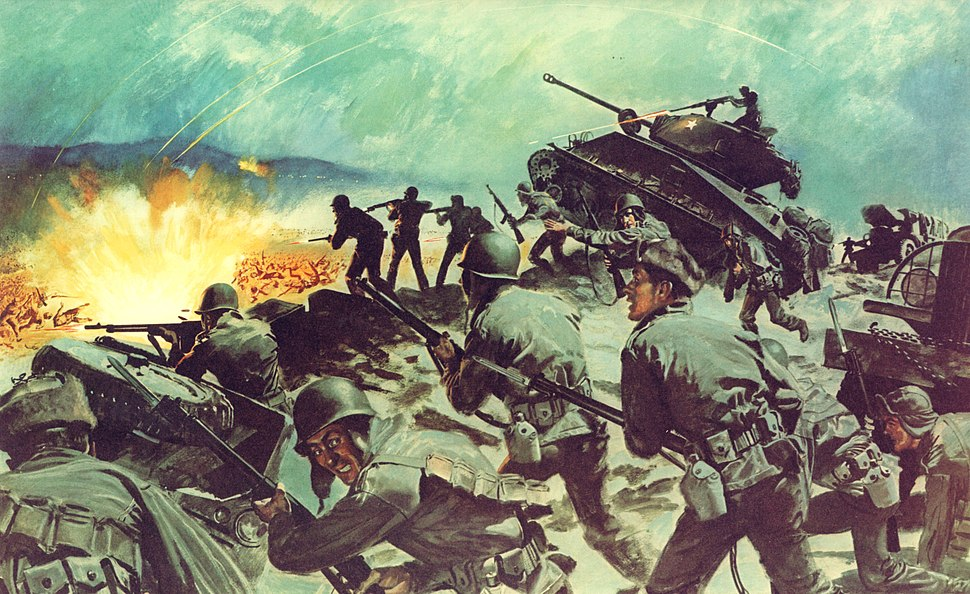 U.S. Army In Action DA Poster 21-47 Breakthrough at Chipyong-Ni