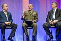 U.S. Marine Corps Sgt. Maj. Bryan B. Battaglia, center, the senior enlisted adviser to the chairman of the Joint Chiefs of Staff, attends the 2013 General Electric Veterans Network Summit at the Gaylord National 130523-A-HU462-018.jpg