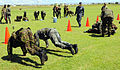 U.S. Navy Lt. j.g. Nicholas Edmiston, center, watches members of the Royal Barbados Defense Force participate in intensity drills during the Marine Corps Martial Arts Program subject matter expert exchange as 100823-N-EP471-571.jpg