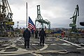 U.S. Sailors prepare to get underway aboard the guided missile destroyer USS Truxtun (DDG 103) in Varna, Bulgaria, after a scheduled port visit March 16, 2014 140316-N-EI510-042.jpg