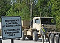 U.S. Soldiers assigned to the 565th Quartermaster Company prepare to convoy M1088 tractor trucks to the Indiana National Guard Armory in Scottsburg, Ind 120802-F-HS649-004.jpg