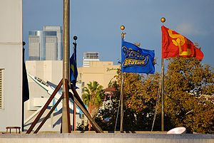 UCLA–USC rivalry - UCLA's and USC's flag.