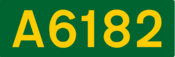 A6182 road shield